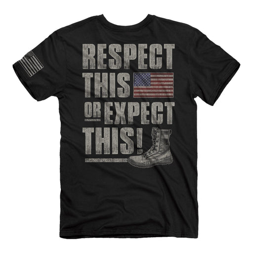 Buck Wear Men's - Flag Respect Tee ME.AP.SHIRT T-SHIRT BUCK WEAR, INC.