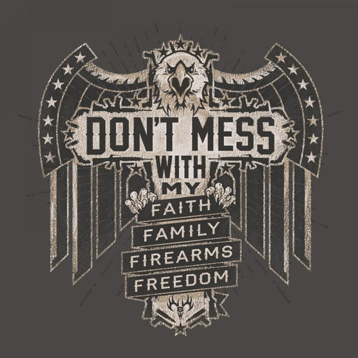 Buck Wear Men's Grey Don't Mess T-Shirt ME.AP.SHIRT T-SHIRT BUCK WEAR, INC.
