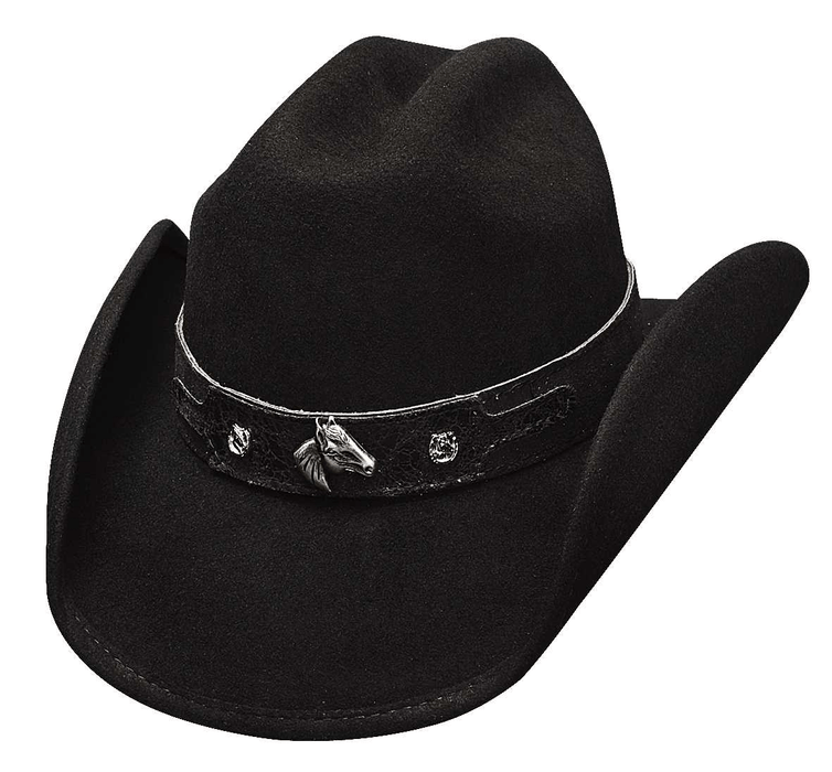 Bullhide Hats Horsing Around – Black Cowboy/girl Kids Hat KIDS HATS-WOOL BULLHIDE HAT CO.