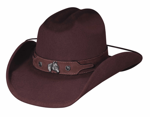 Bullhide Hats Horsing Around – Chocolate Cowboy/girl Kids Hat KIDS HATS-WOOL BULLHIDE HAT CO.