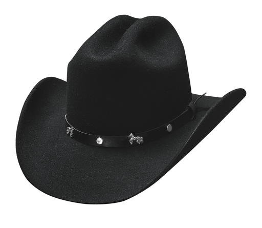 Bullhide Hats Paso Boys – Black Cowboy/girl Kids Hat KIDS HATS-WOOL BULLHIDE HAT CO.