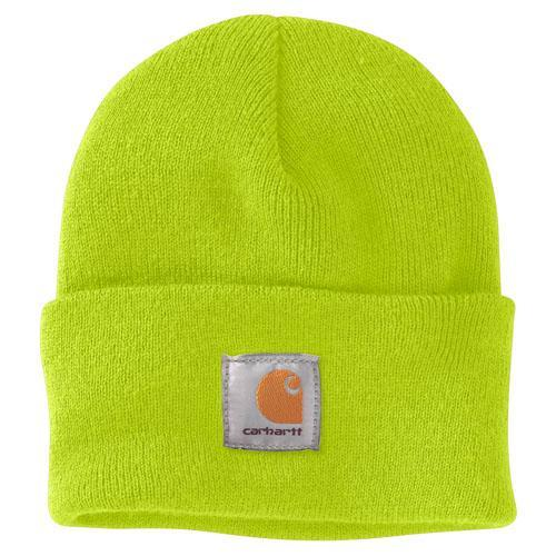 Carhartt Acrylic Watch Hat - Bright Lime WORK AP. HAT KNIT CARHARTT, INC.