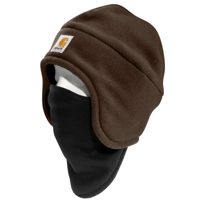 Carhartt - Brown and Black 2-in-1 Mask and Hat WORK AP. HAT KNIT CARHARTT, INC.