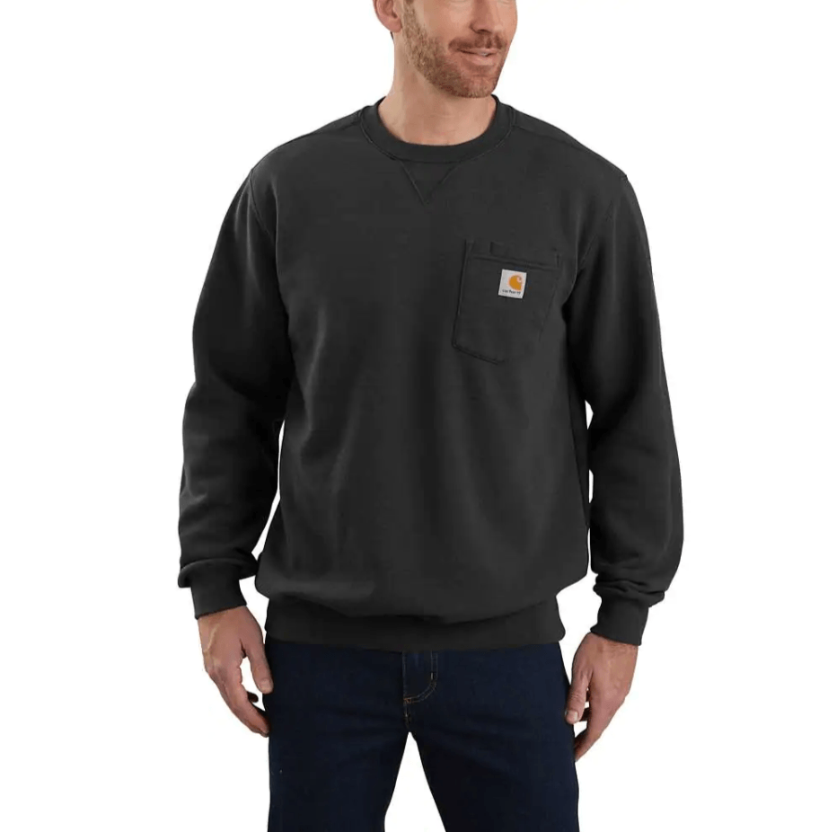 Carhartt Men's - Black Crewneck Pocket Sweatshirt WORK APSWEATSHIRTPULLOVR CARHARTT, INC.