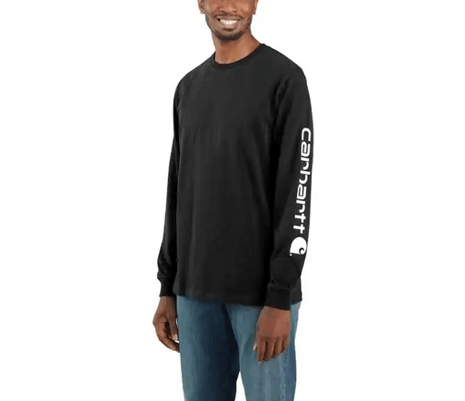 Carhartt Men's - Black Logo Long Sleeve WORK AP. L/S KNIT TSHIRT CARHARTT, INC.