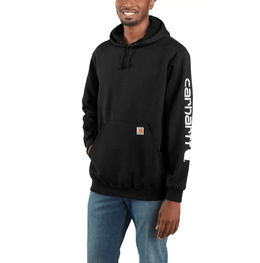 Carhartt Men's - Midweight Hooded Logo Sweatshirt - Black ME.AP.SHIRT SWEATSHIRT CARHARTT, INC.