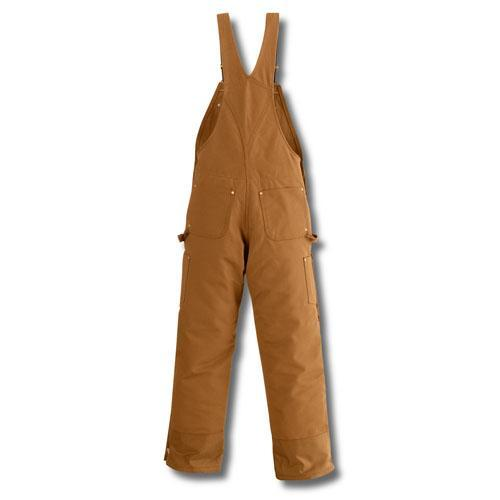 Carhartt Men's Quilt-Lined Zip-to-Thigh Bib Overalls - Brown WORK AP.BIB INSULATED CARHARTT, INC.