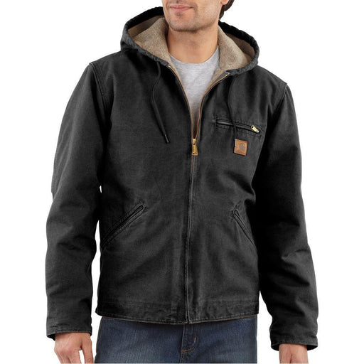 Carhartt Men's Sierra Jacket - Black WORK AP.OUTERWEAR INSULATED CARHARTT, INC.