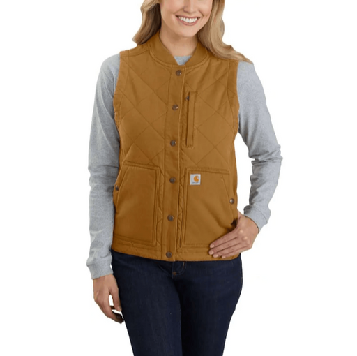 Carhartt Women's - Rugged Flex® Canvas Insulated Rib Collar Vest WOMENS WORK VESTS CARHARTT, INC.
