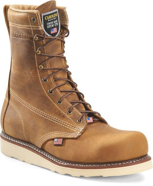"Carolina Men's - 8"" AMP USA Made - Steel Toe MENS BOOTLACE STEEL-TOE CAROLINA SHOE COMPANY"