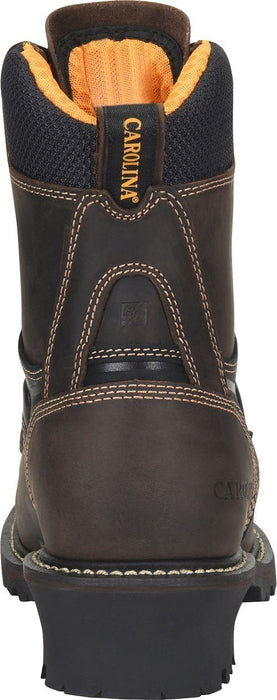 "Carolina Men's - 8"" Timber Logger Walnut - Composite toe MENS LACEWATRPROOFSAFETY TOE CAROLINA SHOE COMPANY"