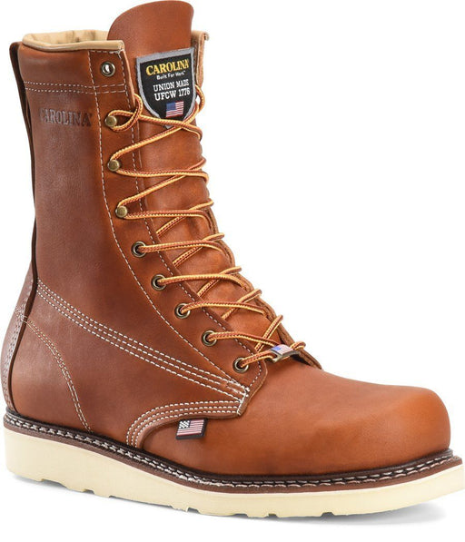 "Carolina Men's - 8"" USA Made Wedge Work Boot - Round Toe MENS BOOTLACE WORKNON-SAFETY CAROLINA SHOE COMPANY"