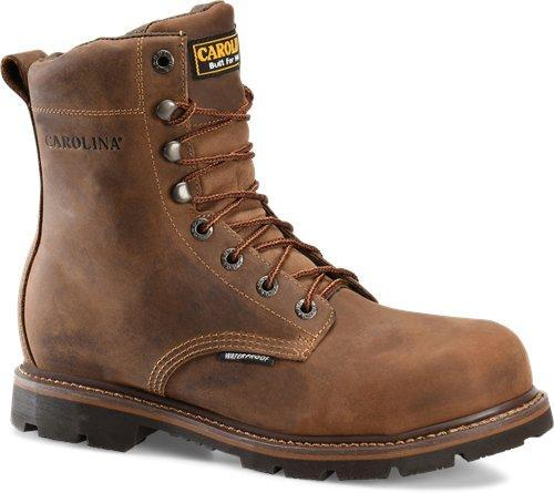 "Carolina Men's 8"" Waterproof Work - Steel Toe MENS LACEWATRPROOFSAFETY TOE CAROLINA SHOE COMPANY"