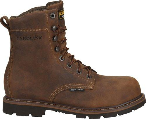 "Carolina Men's - Waterproof 8"" Installer - Round toe MENS LACEWATERPRF NON- SAFETY CAROLINA SHOE COMPANY"