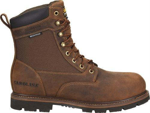 "Carolina Men's - Waterproof 8"" Insulated Installer - Round toe MENS LACEINSULATEDNON-SAFETY CAROLINA SHOE COMPANY"