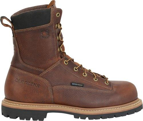 "Carolina Men's - Waterproof Grind 8"" - Composite toe MENS LACEWATRPROOFSAFETY TOE CAROLINA SHOE COMPANY"