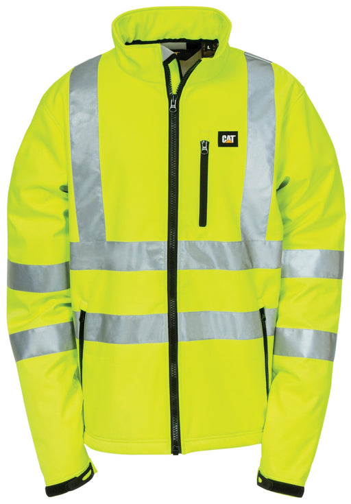Caterpillar Men's High Visibility Yellow Soft Shell ME.AP.OUTERWEAR HI VISABIL SUMMIT RESOURCE INTERNATI