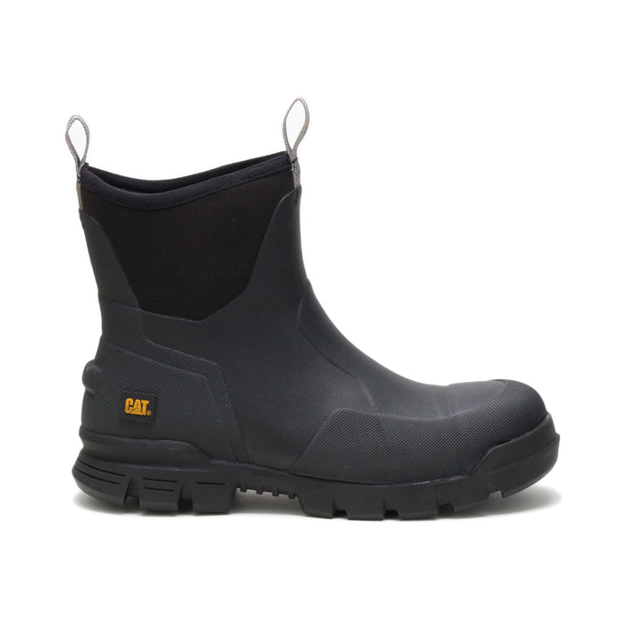 "Caterpillar Stormers - 6"" Rubber Black - Round toe MENS BOOTMISC.RUBBER CATERPILLAR INC"