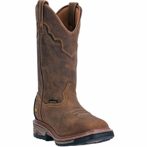 "Dan Post Men's 11"" Blayde Saddle Tan Wellington Waterproof – Square Steel Toe MENS WORKWTRPSQ SAFETY DAN POST BOOT COMPANY"