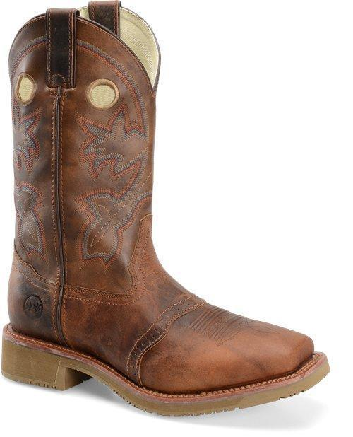 "Double H Men's 13"" Earthquake Rust Work Western - Wide Square Toe MENS WESTERN SQUARETOE DOUBLE-H BOOT COMPANY"