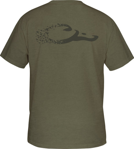 Drake - Military Green Heather Drake Duck Logo T S/S ME.AP.SHIRT T-SHIRT ICON OUTDOORS LLC