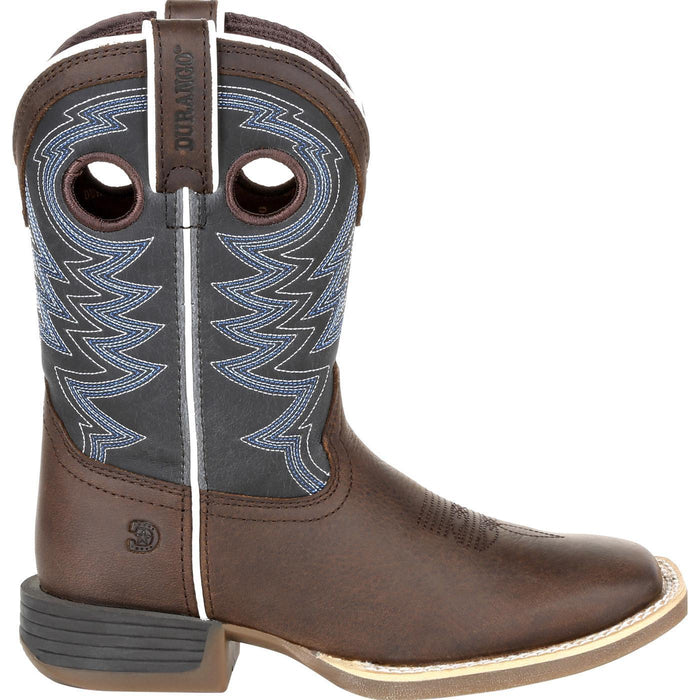 Durango Little Kids - Brown and Blue Western Boot - Square toe CHILDRENSBOOTSQ TOE DURANGO BOOT