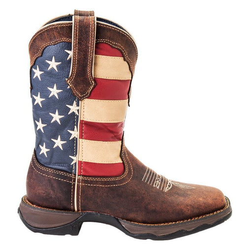 Durango Women's Lady Rebel Patriotic Pull-On Western WOMENS BOOT WESTERNSQUARE TOE DURANGO BOOT