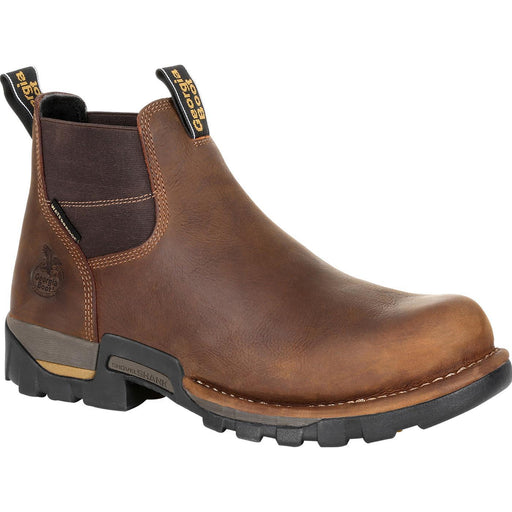 "Georgia Men's - 6"" Waterproof Eagle One Chelsea - Round Toe MENS LACEWATERPRF NON- SAFETY GEORGIA BOOT"