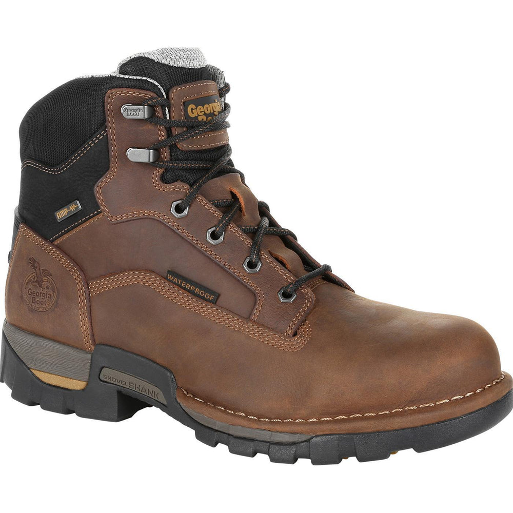 "Georgia Men's - 6"" Waterproof Eagle One - Steel Toe MENS LACEWATRPROOFSAFETY TOE GEORGIA BOOT"