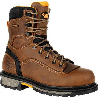 "Georgia Men's - 8"" EH/Waterproof Carbo-Tec LTX - Soft Toe MENS LACEWATERPRF NON- SAFETY GEORGIA BOOT"