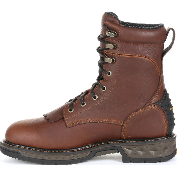"Georgia Men's - 8"" Waterproof Carbo-Tec LT Lacer - Round Toe MENS LACEWATERPRF NON- SAFETY GEORGIA BOOT"