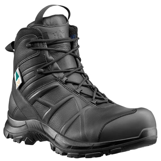 "Haix Men's - 5"" EMS Black Eagle Safety 55 Mid Side Zip - Composite Toe MENS BOOTLACE UNIFORM NON-SFY HAIX USA"