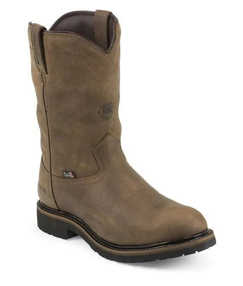 "Justin Men's - 10"" Waterproof Wyoming - Steel Toe MENS BOOTINSULATEDWORK & W JUSTIN ORIGINAL WORK"
