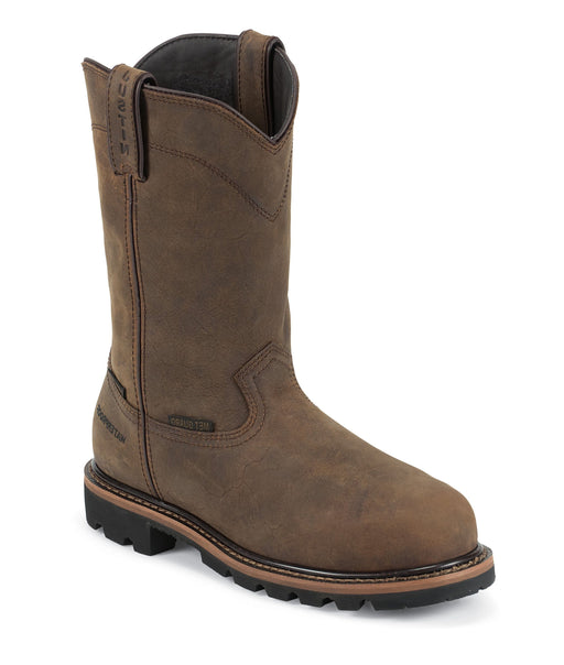 "Justin Men's 10"" Wyoming Waterproof Met Guard - Round Composition Toe MENS BOOTWORK METGUARD JUSTIN ORIGINAL WORK"