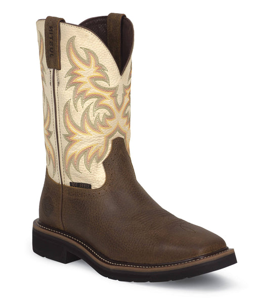 "Justin Men's 11"" Copper Kettle Stampede™ - Square Steel Toe MENS BOOTS-T WESTERN & WORK JUSTIN ORIGINAL WORK"