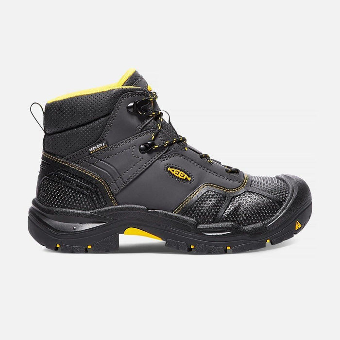 Keen Men's Logandale Waterproof Work Boot - Steel Toe MENS LACEWATRPROOFSAFETY TOE KEEN FOOTWEAR