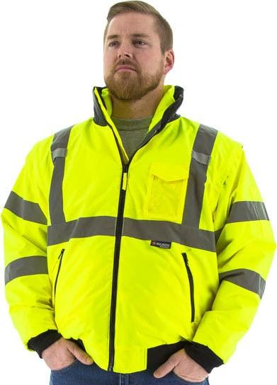 Majestic Glove Men's - 8-in-1 Hi-Vis Waterproof Jacket ME.AP.OUTERWEAR HI VISABIL MAJESTIC GLOVE