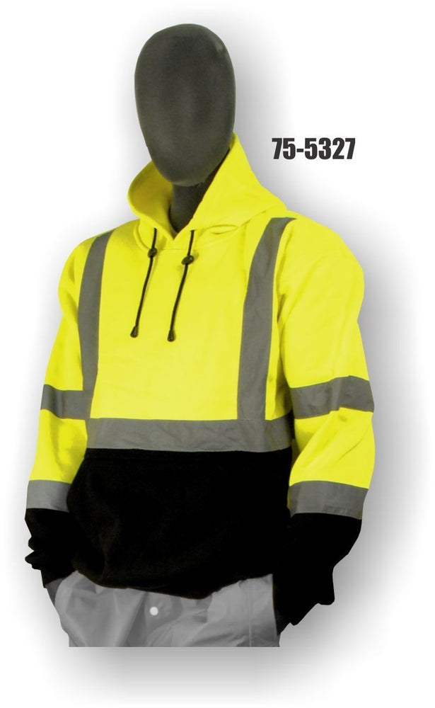 Majestic Yellow Class 3 Hooded Pullover Sweatshirt ME.AP.OUTERWEAR HI VISABIL MAJESTIC GLOVE