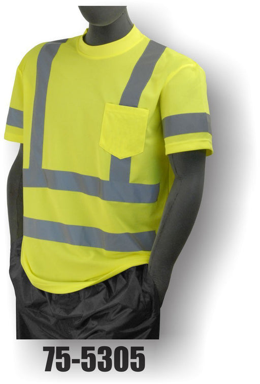 Majestic Yellow Class 3 Mesh Short Sleeve T-Shirt ME.AP.HI VIZ SHIRT/SWEATSHIRT MAJESTIC GLOVE