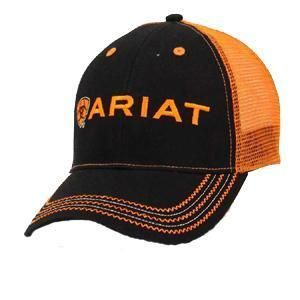 M&F Western Products Ariat Mesh Back Ball Cap - Orange and Black ACC.HAT CAP M&F WESTERN PRODUCTS, INC