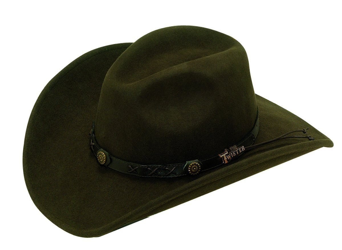 M&F Western Products Twister® Casual Brown Dakota Cowboy/girl Hat ACC.HAT CRUSHABLE M&F WESTERN PRODUCTS, INC