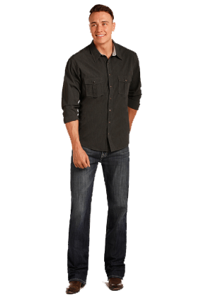 Rock & Roll Men's Double Barrel Dark Wash Jean - Straight Leg ME.AP. FASHION JEAN WESTMOOR MFG CO.