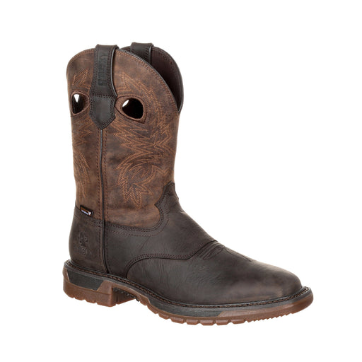 "Rocky Men's - 11"" Original Ride FLX Waterproof - Square toe MENS WORKSQ T NON SAFETYWTRP ROCKY SHOES & BOOTS INC"