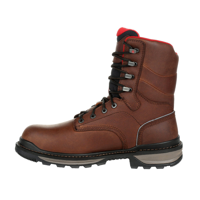 "Rocky Men's - 8"" Rams Horn Waterproof - Composite toe MENS LACEWATRPROOFSAFETY TOE ROCKY SHOES & BOOTS INC"