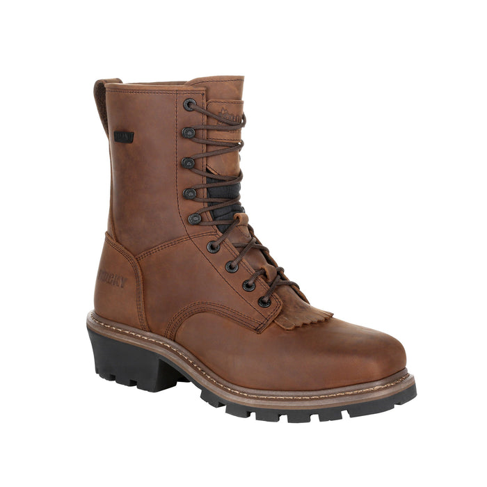 "Rocky Men's - 9"" Waterproof Logger - Composite toe MENS LACEWATRPROOFSAFETY TOE ROCKY SHOES & BOOTS INC"