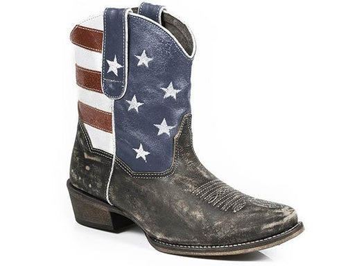 "Roper Women's 7"" American Beauty - Snip Toe WOMENS BOOT FASHION ROPER APPAREL & FOOTWEAR"