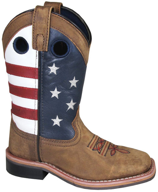 Smoky Mountain Big Kids - Stars and Stripes - Square Toe CHILDRENSBOOTSQ TOE SMOKY MOUNTAIN BOOTS