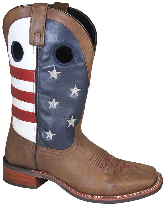Smoky Mountain Men's - Stars and Stripes - Square Toe MENS WESTERN SQUARETOE SMOKY MOUNTAIN BOOTS