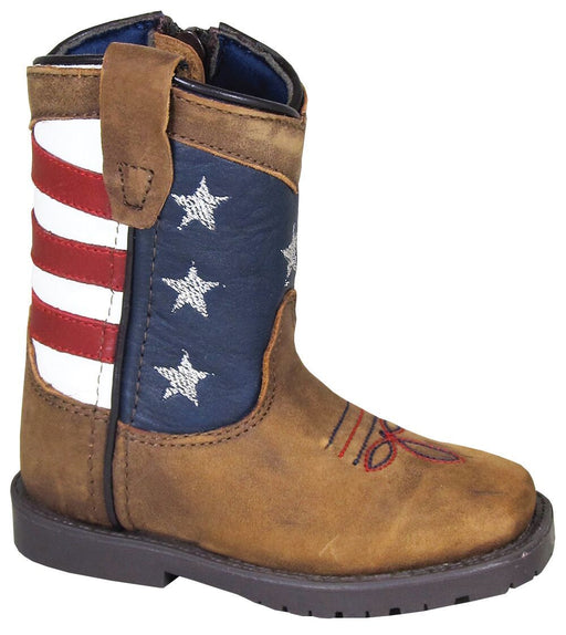 Smoky Mountain Toddlers - Stars and Stripes - Square Toe INFANTS BOOT WESTERN SMOKY MOUNTAIN BOOTS