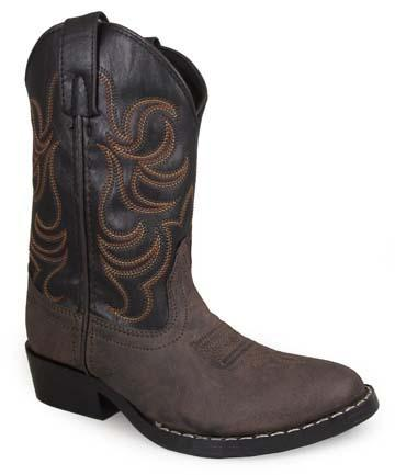 Smoky Mountain Youths' Black Monterey – Western Toe CHILDRENSBOOT WESTERN SMOKY MOUNTAIN BOOTS